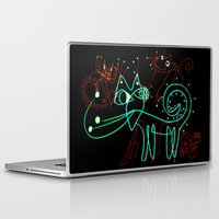 kittens Laptop & iPad Skins featuring NEON KITTENS by Vanja Cankovic