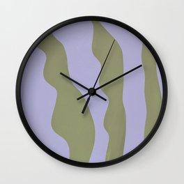 Abstract plant home decor art, minimal, unique  Wall Clock