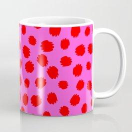 Keep me Wild Animal Print - Pink with Red Spots Coffee Mug