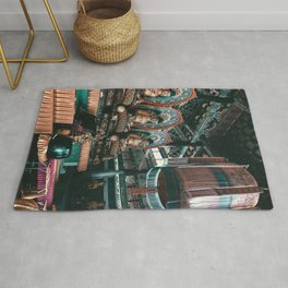 Asian Temple Travel Photography Rug