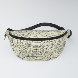 Topography Map Fanny Pack