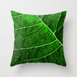 LEAF STRUCTURE GREENERY no2 Throw Pillow