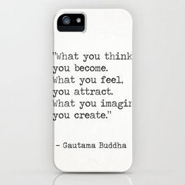 Buddha quote 5 iPhone Case