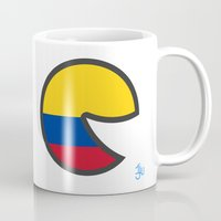 colombia Mugs featuring Colombia Smile by onejyoo