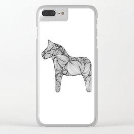 Dala Horse Clear iPhone Case