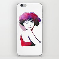 bow iPhone & iPod Skins featuring Bow by Nathan Dixon
