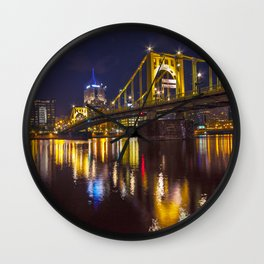 Pittsburgh After Dark Wall Clock