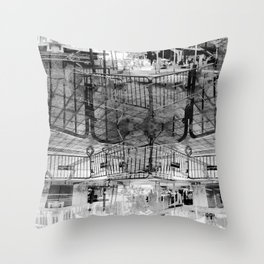 Summer space, smelting selves, simmer shimmers. 27, grayscale version Throw Pillow