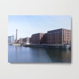 Pump house Pub and the Albert Dock Metal Print