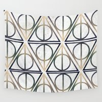 deathly hallows Wall Tapestries featuring Dear Harry. by Lucas de Souza