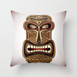 Africa Ethnic Mask Totem Throw Pillow