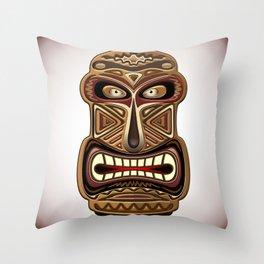 Africa Ethnic Mask Totem Throw Pillow