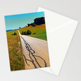 Traces of the tarmac worms Stationery Cards