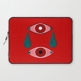 2 Eyes Red Laptop Sleeve