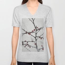 Red berries Unisex V-Neck