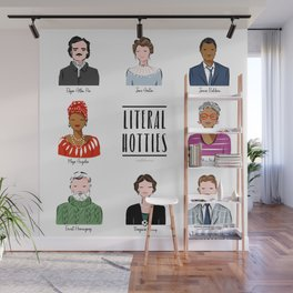 Famous Writers - Literal Hotties Wall Mural