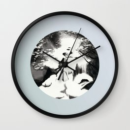 Streams are Covered in Thick Ice Wall Clock