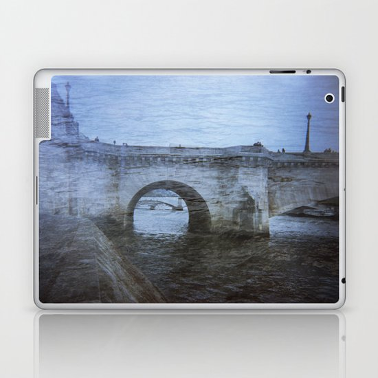 Paris Bridge & Seine Holga Double Exposure Laptop & iPad Skin