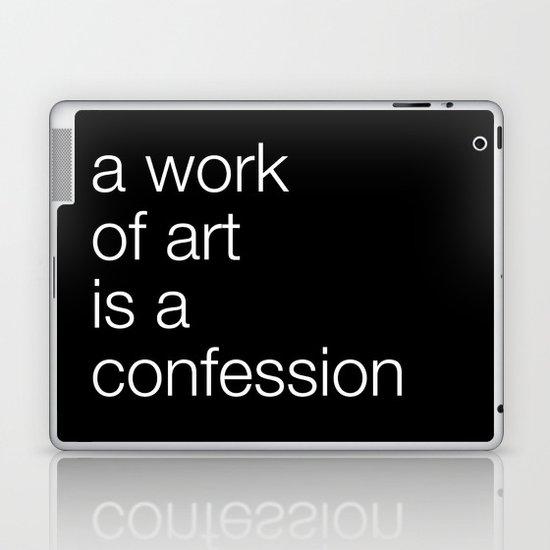 work of art black Laptop & iPad Skin