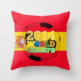 2014 World Champs Ball - Spain Throw Pillow
