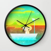 vector Wall Clocks featuring The Adventure of Neb No. 1 by BCGenest