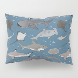 Sharks and Rays Pillow Sham