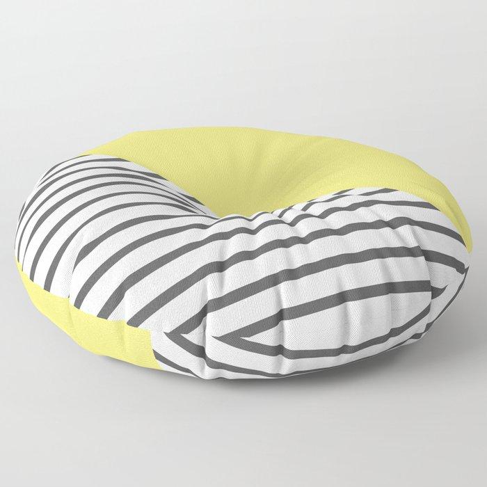 dismantled pattern Floor Pillow
