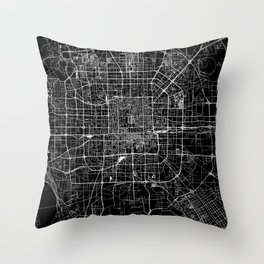 Beijing Black Map Throw Pillow