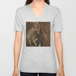Self-Seer II (Death and Man) by Egon Schiele (1911) Unisex V-Neck