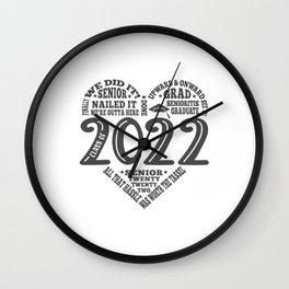 Class of 2022 Senior Graduation Design Wall Clock