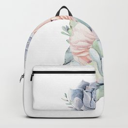 Pastel Succulents by Nature Magick Backpack