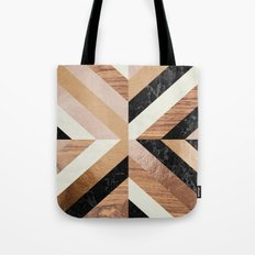 Copper Marble Wood Tote Bag