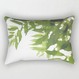 Green Ash Leaves Rectangular Pillow