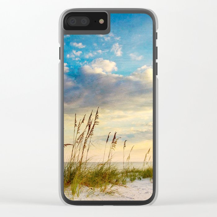 Sea Oats Beach Sunset Clear iPhone Case