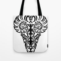 aries Tote Bags featuring Aries by Mario Sayavedra