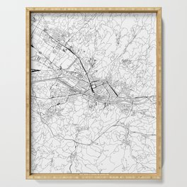 Florence White Map Serving Tray