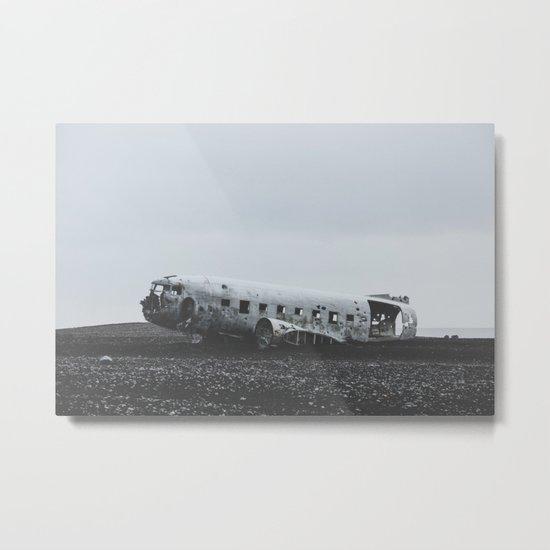 Sólheimasandur Plane Wreck, Iceland Metal Print