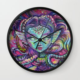 Indigo Mermaid Explore - Kids, fantasy, mermaids by Lana Chromium Wall Clock
