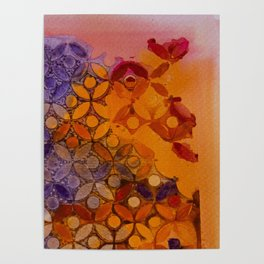 a piece of orange and purple Poster