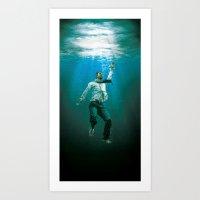 Not Waving But Drowning Art Print