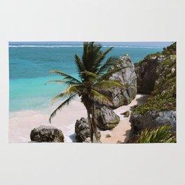 No Beach Here in Tulum Rug