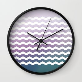 Chevron Smooth Gradient Wall Clock