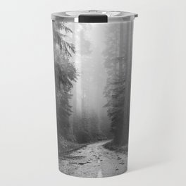 Redwood Forest Adventure Black and White - Nature Photography Travel Mug