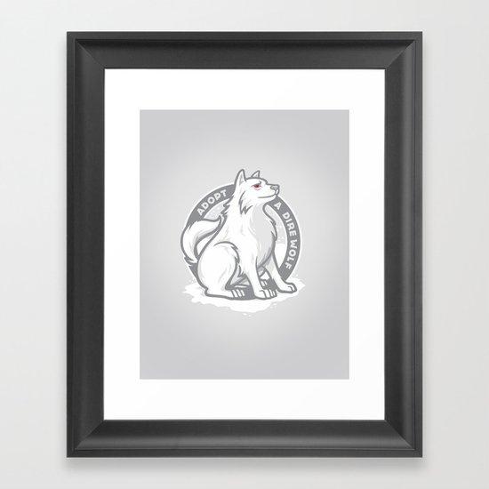 Adopt A Dire Wolf Framed Art Print
