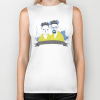 cook Biker Tanks featuring Let's cook by Paula García