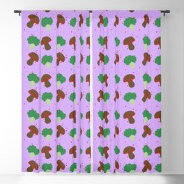 Funghi e Broccoli Blackout Curtain