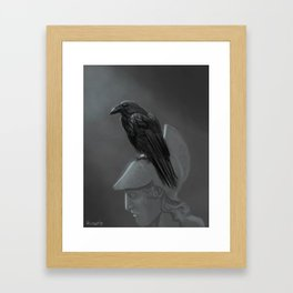Upon Pallas' Bust Framed Art Print