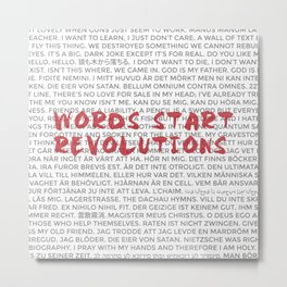 Words Start Revolutions Metal Print