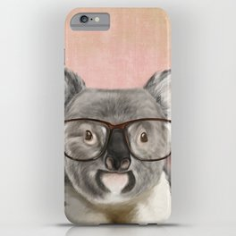 Funny koala with glasses iPhone Case