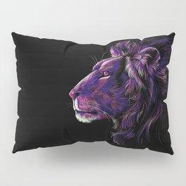 Magenta Lion Pillow Sham
